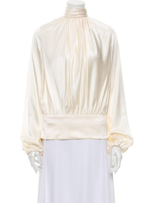 Tuleh Silk Mock Neck Blouse