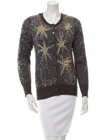 Tsumori Chisato Embellished Scoop Neck Cardigan w/ Tags None