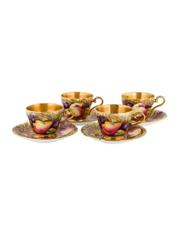 Tableware 8-Piece Aynsley Orchard Gold Demitasse Service None