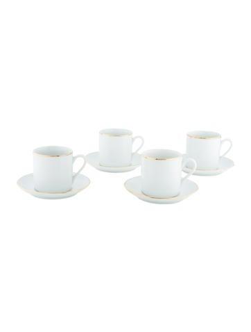 4-Piece Benjamin & Medwin Espresso Cup & Saucer Set None
