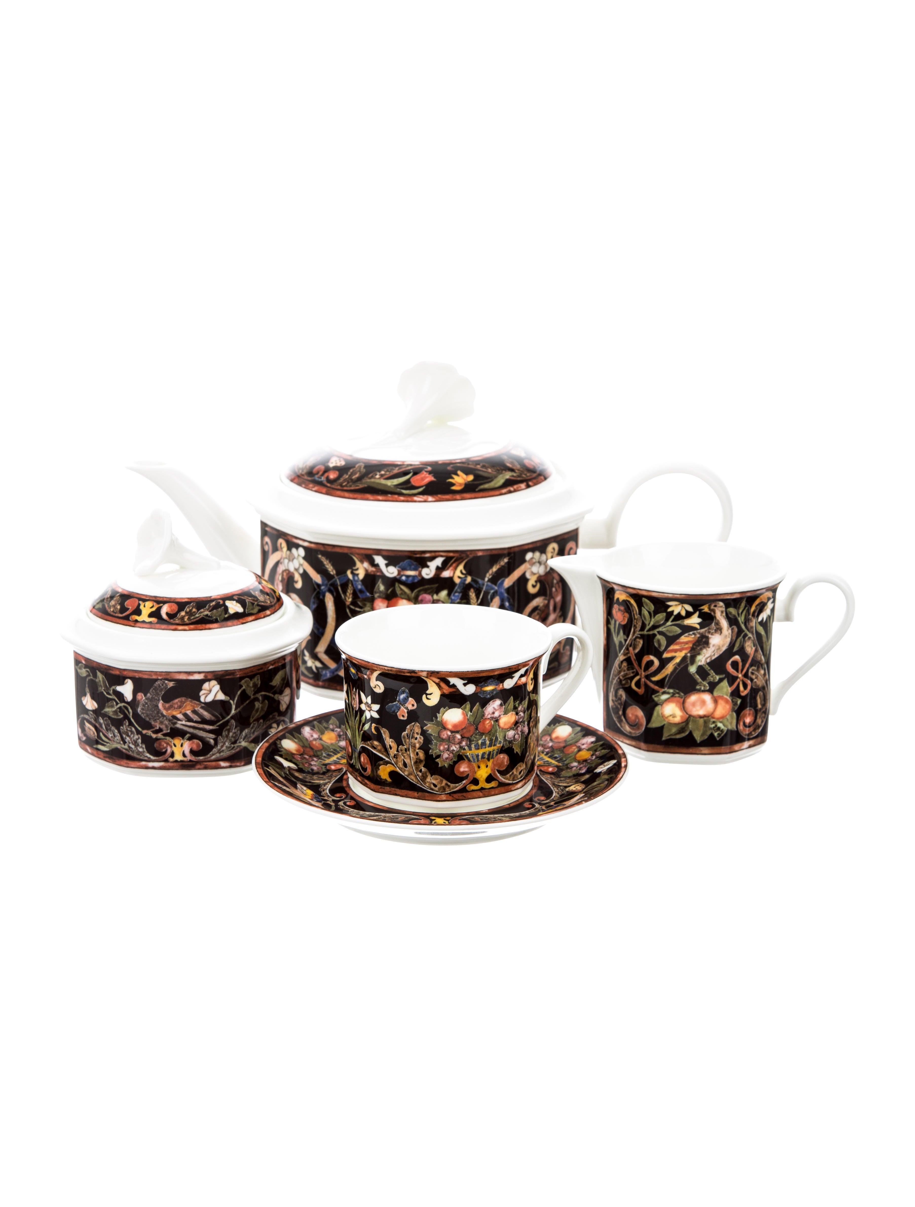 tableware villeroy boch intarsia tea service tabletop and kitchen tware20699 the realreal. Black Bedroom Furniture Sets. Home Design Ideas