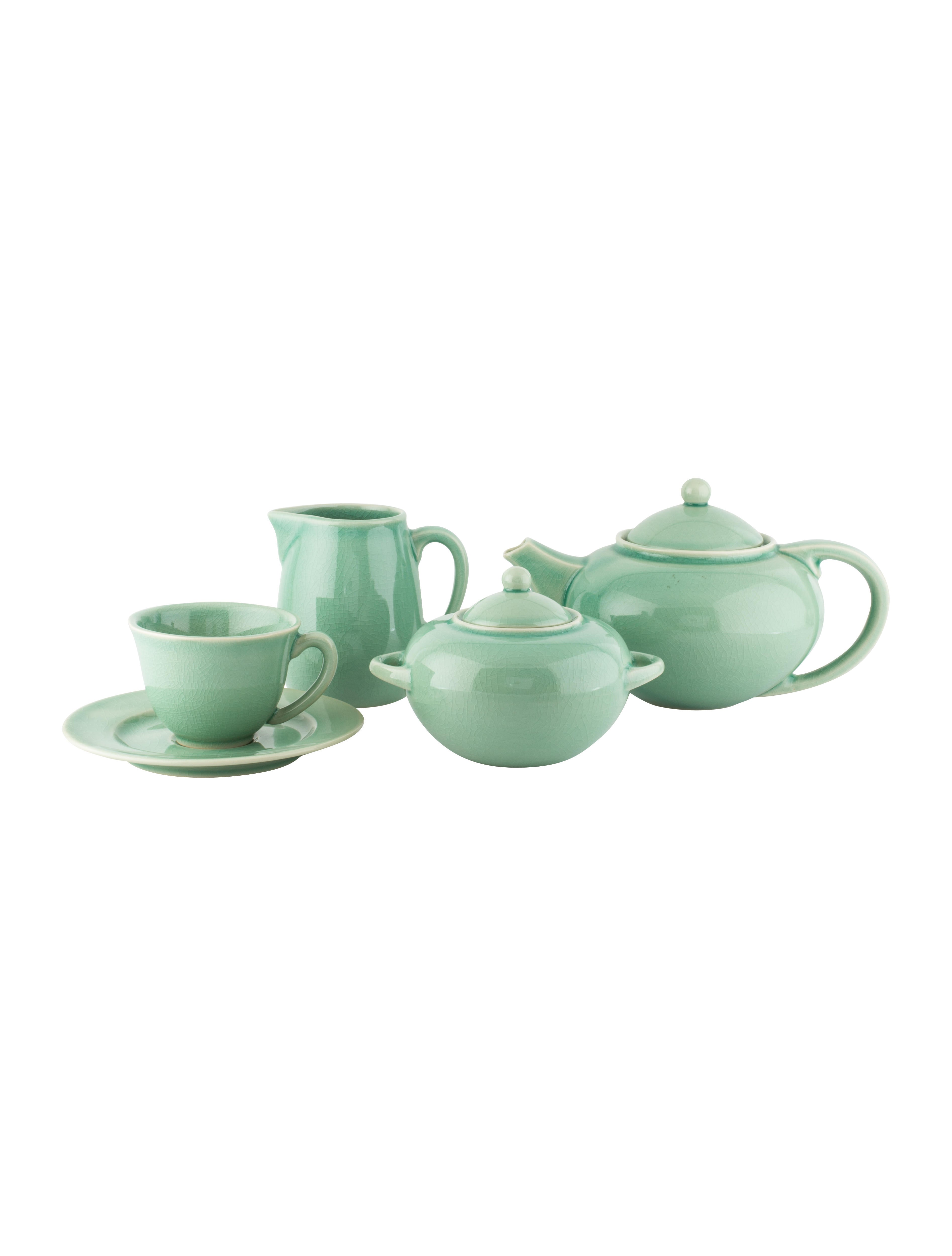 Jars France 21-Piece Ceramic Tea Set  sc 1 st  The RealReal & Jars France 21-Piece Ceramic Tea Set - Tabletop And Kitchen ...