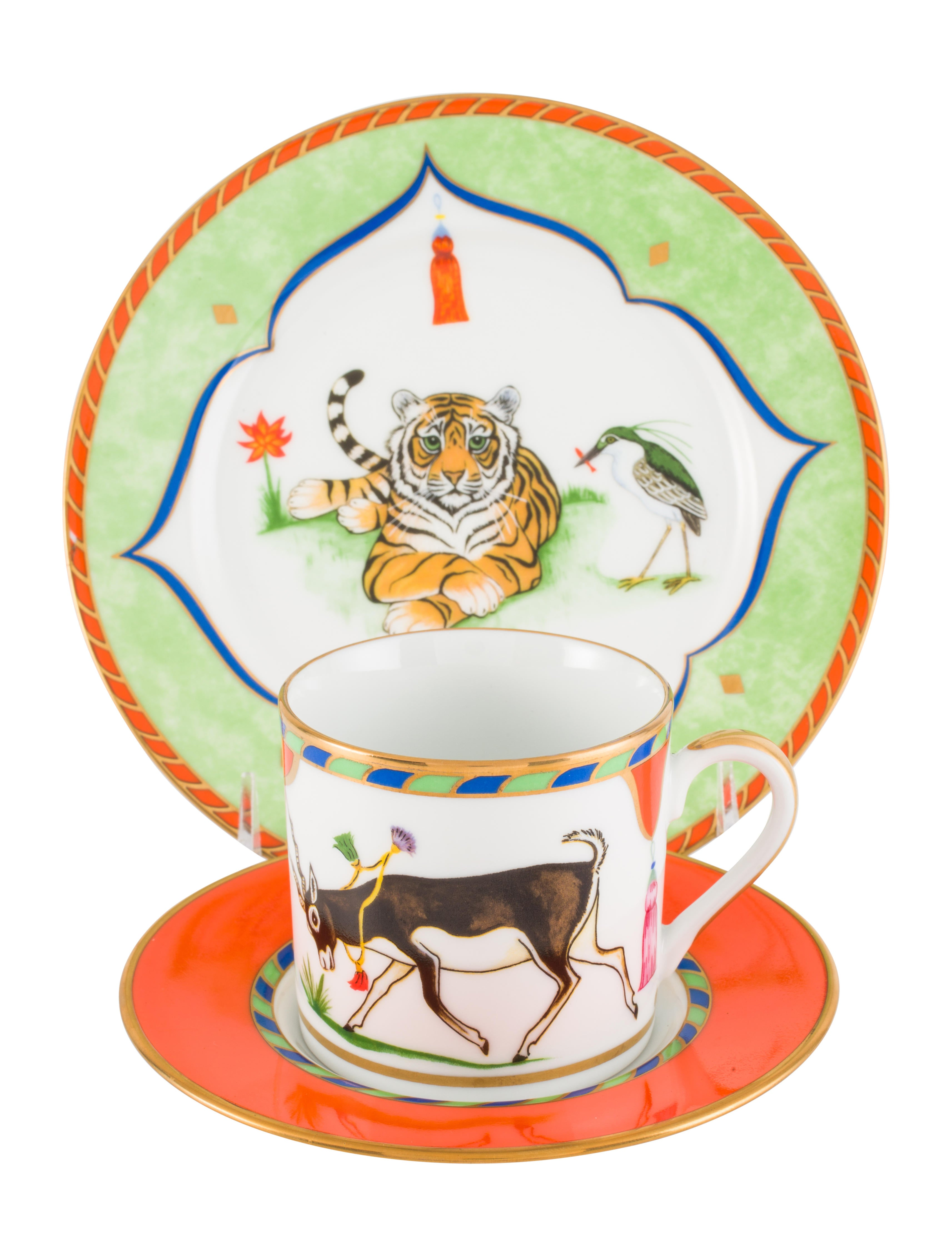 12-Piece Lynn Chase Tiger Raj Tea Service  sc 1 st  The RealReal : lynn chase dinnerware - pezcame.com
