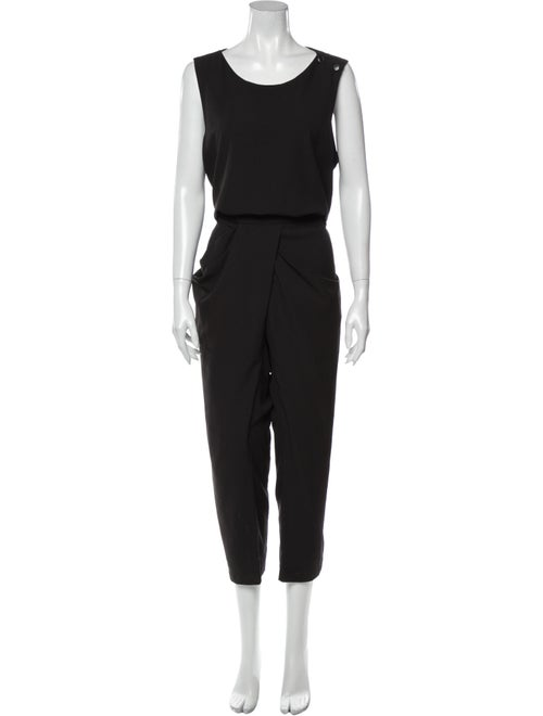 Uma Wang Scoop Neck Jumpsuit Black