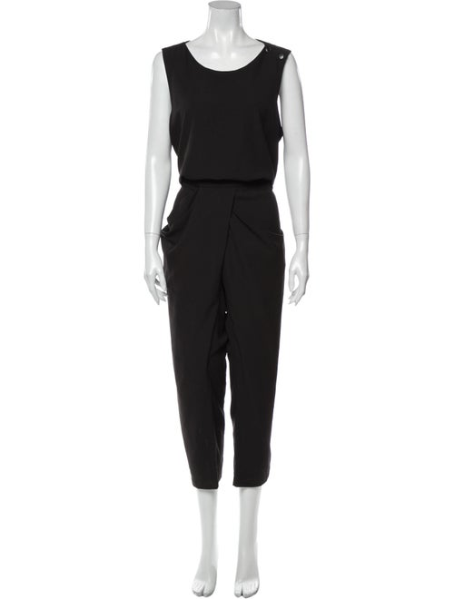 Uma Wang Scoop Neck Jumpsuit Black