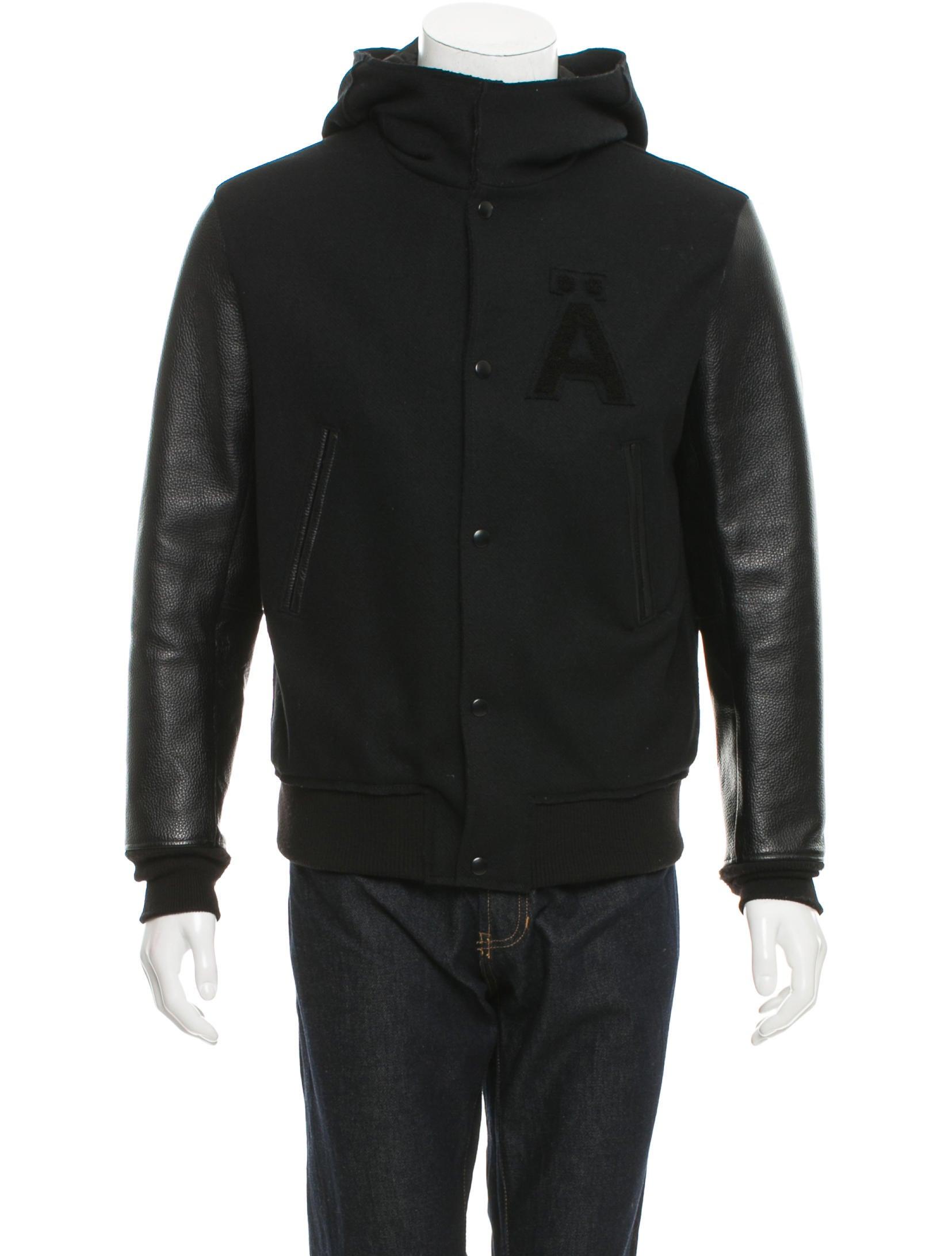 Wool and leather varsity jacket