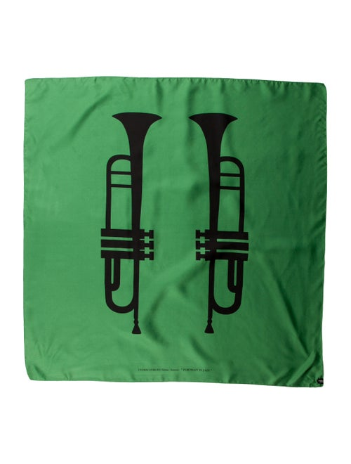 Undercover Woven Printed Scarf Green