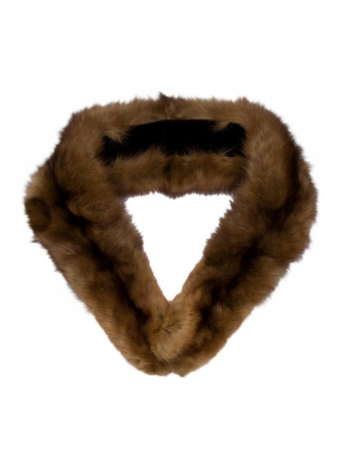 Unsigned Fur Stole Brown - image 1