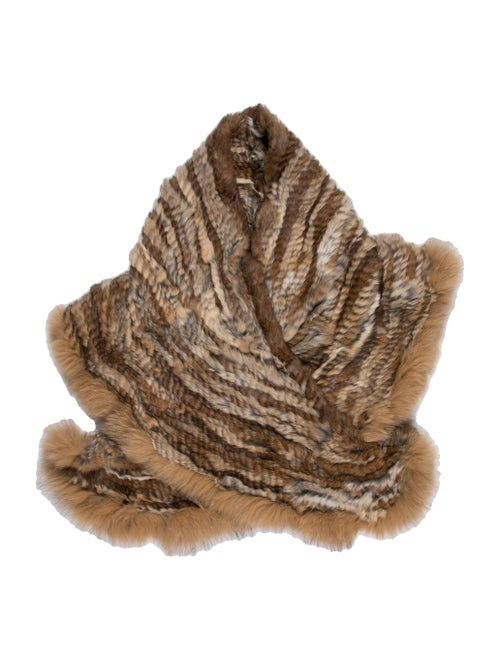 Unsigned Fur Stole Brown