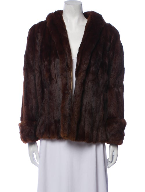 Unsigned Vintage 1960's Fur Coat Brown