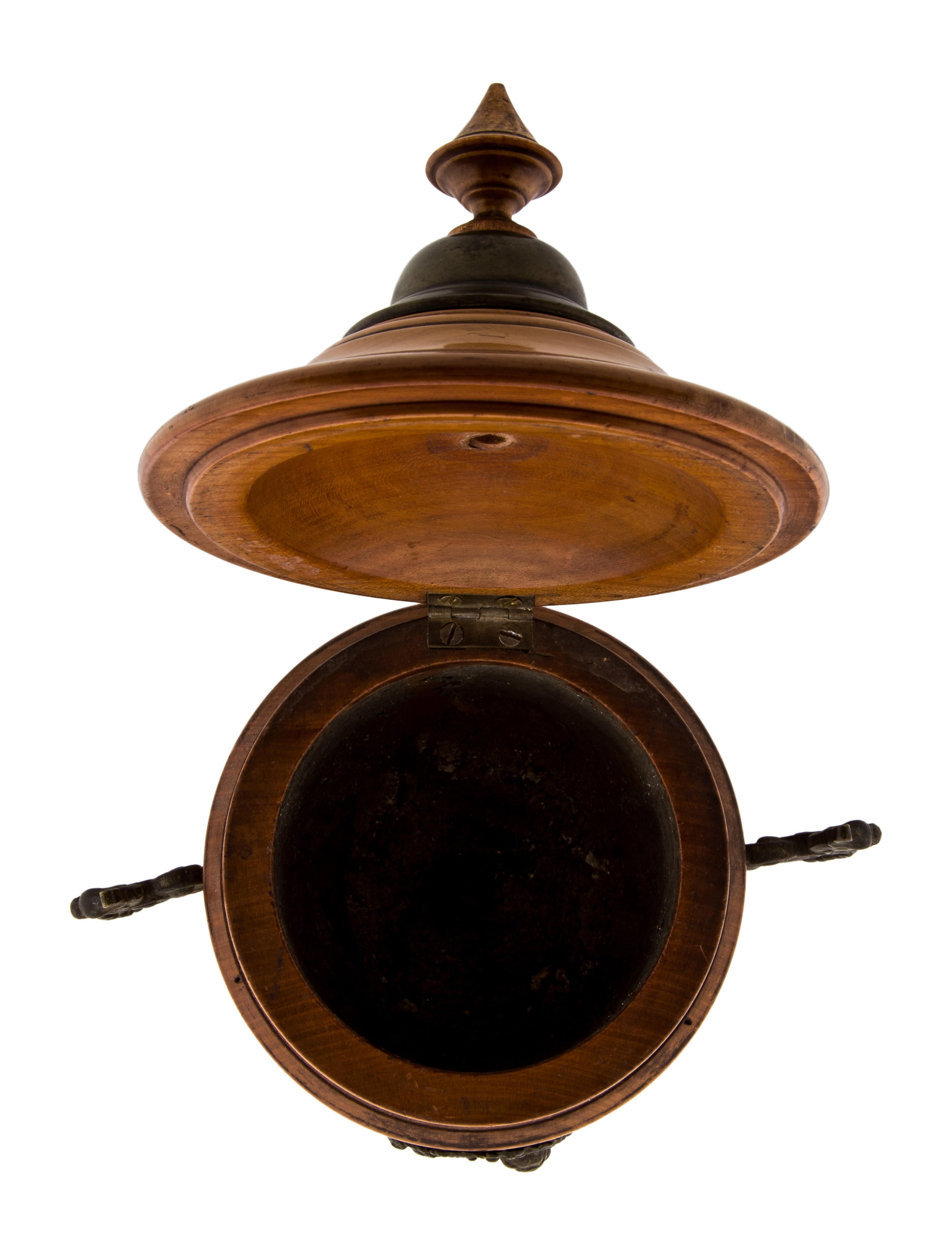 Wood brass urn decor and accessories the