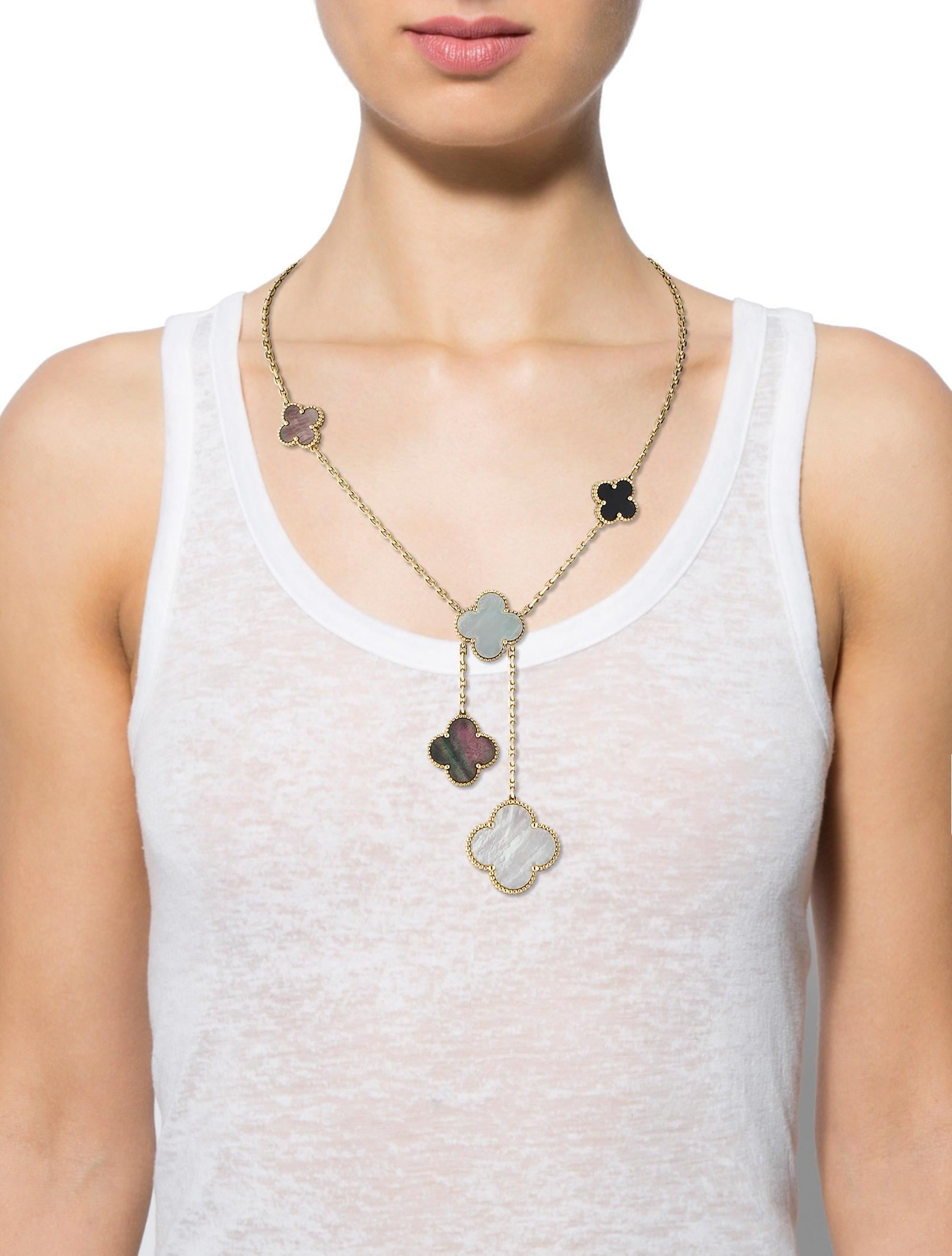 Van Cleef Amp Arpels Magic Alhambra Necklace Necklaces