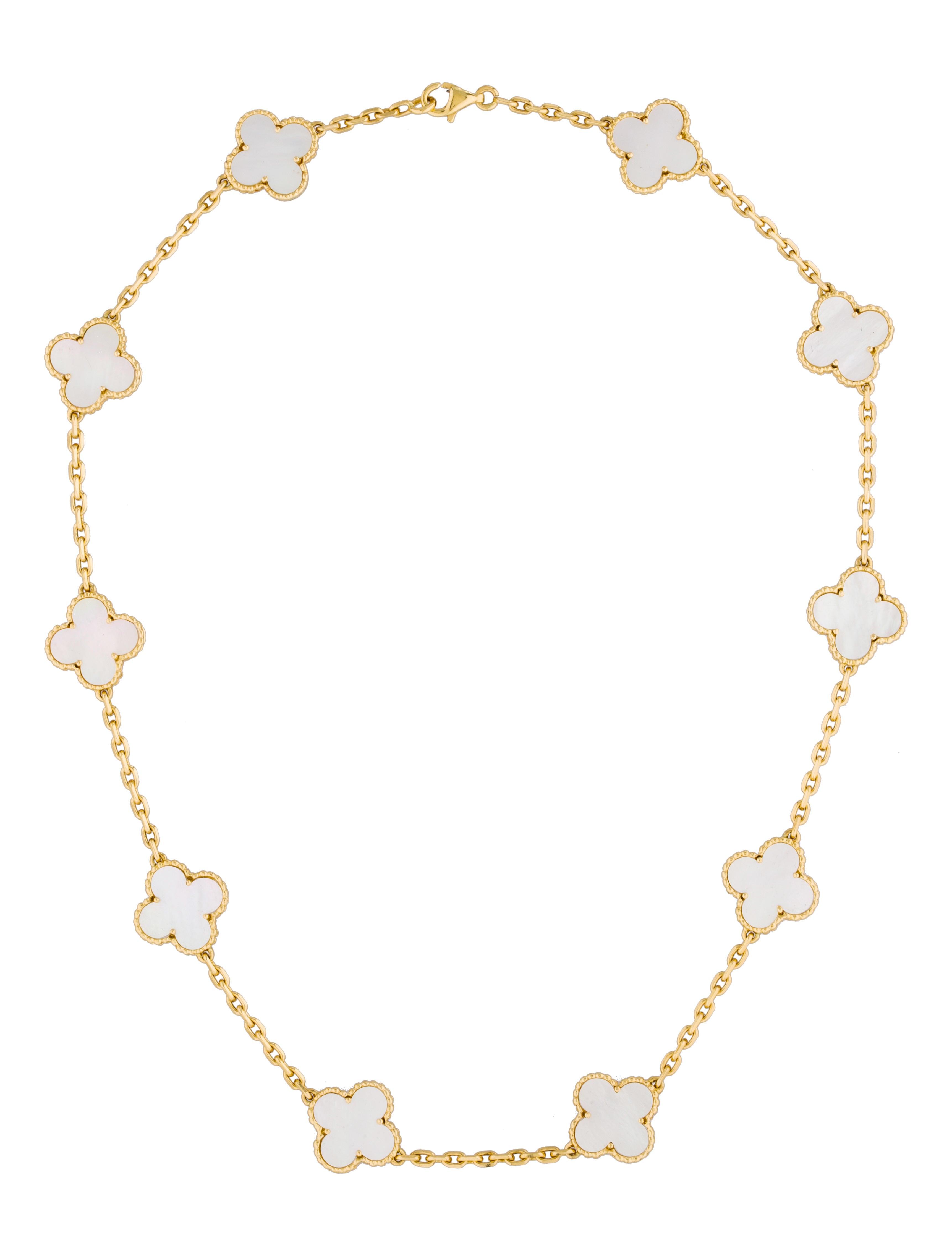 van cleef arpels vintage alhambra necklace necklaces vac20200 the realreal. Black Bedroom Furniture Sets. Home Design Ideas