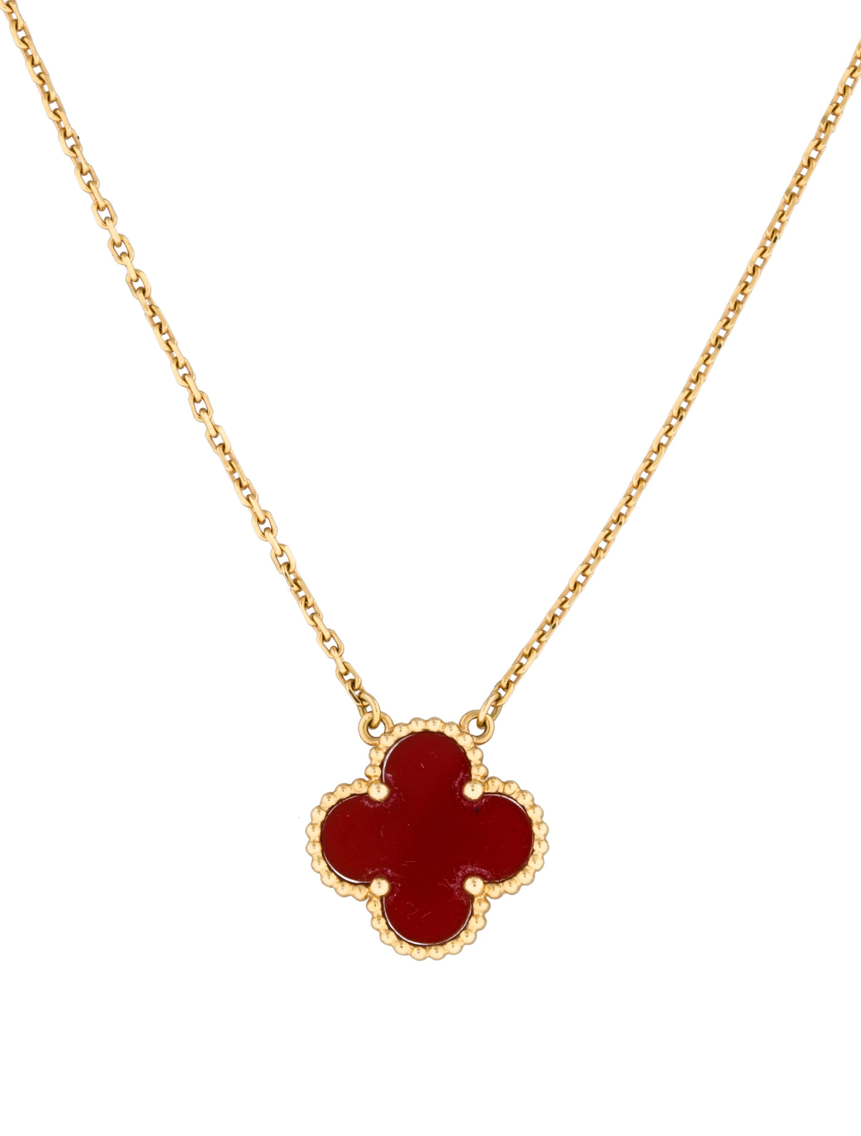 Van Cleef & Arpels Vintage Alhambra Single Motif Necklace ...