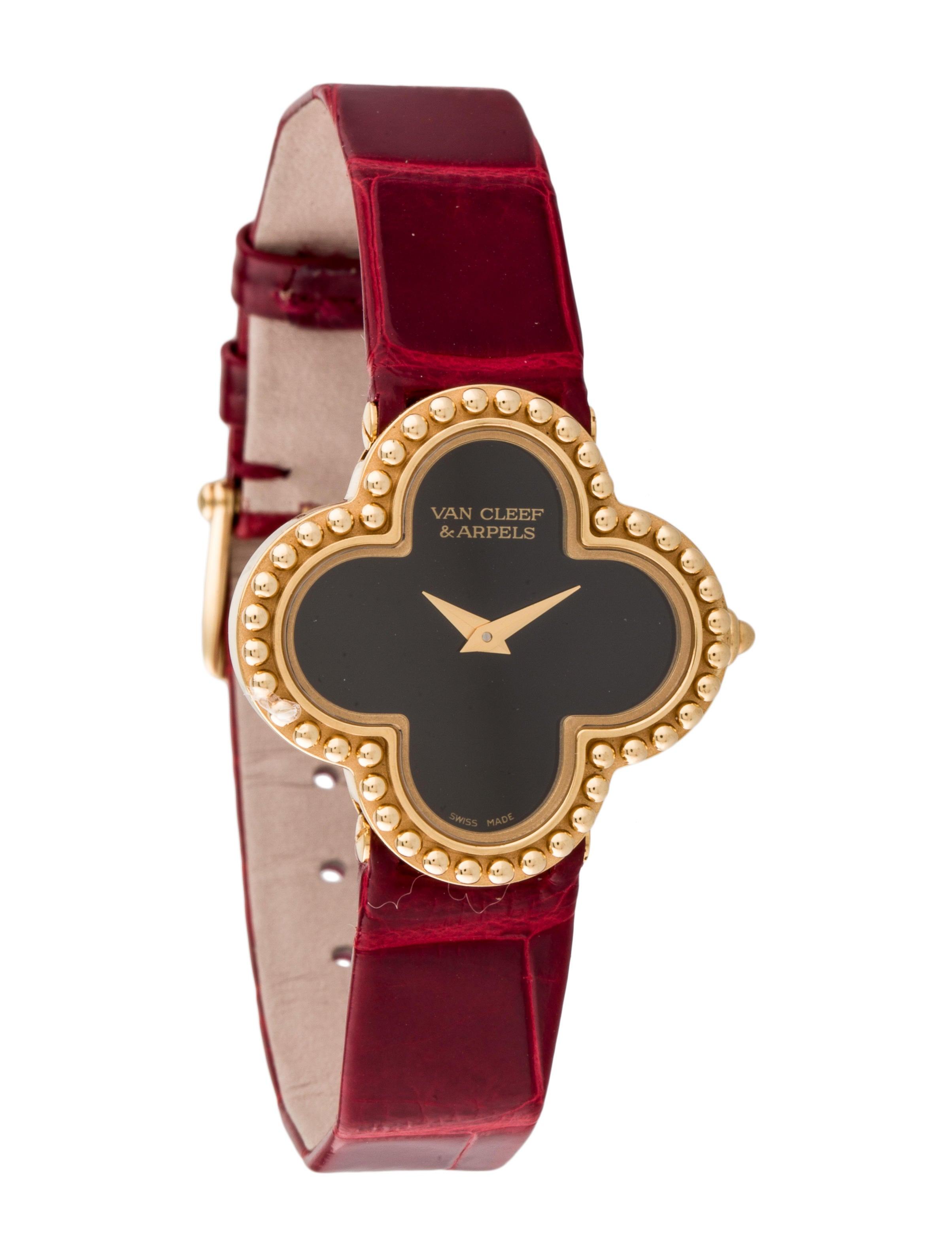 van cleef arpels vintage alhambra watch strap vac20483 the realreal. Black Bedroom Furniture Sets. Home Design Ideas
