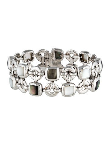 Mother of Pearl Square Motif Bracelet