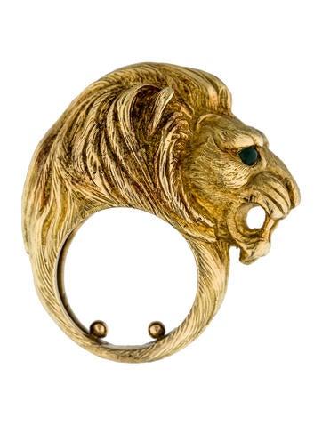 Vintage Lion Head Ring