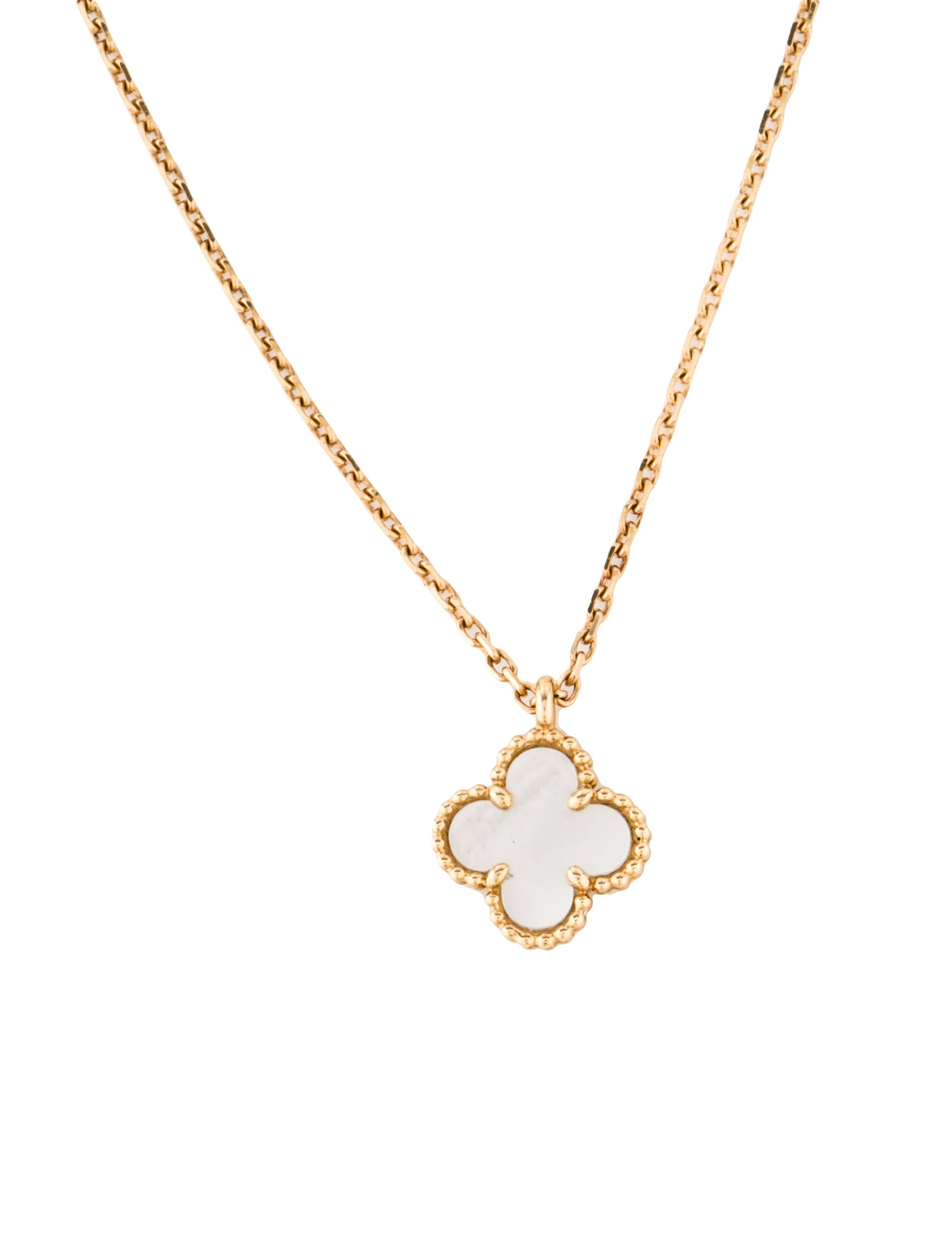 gold sweet butterfly products length cleef alhambra white van necklace pendant d arpels n