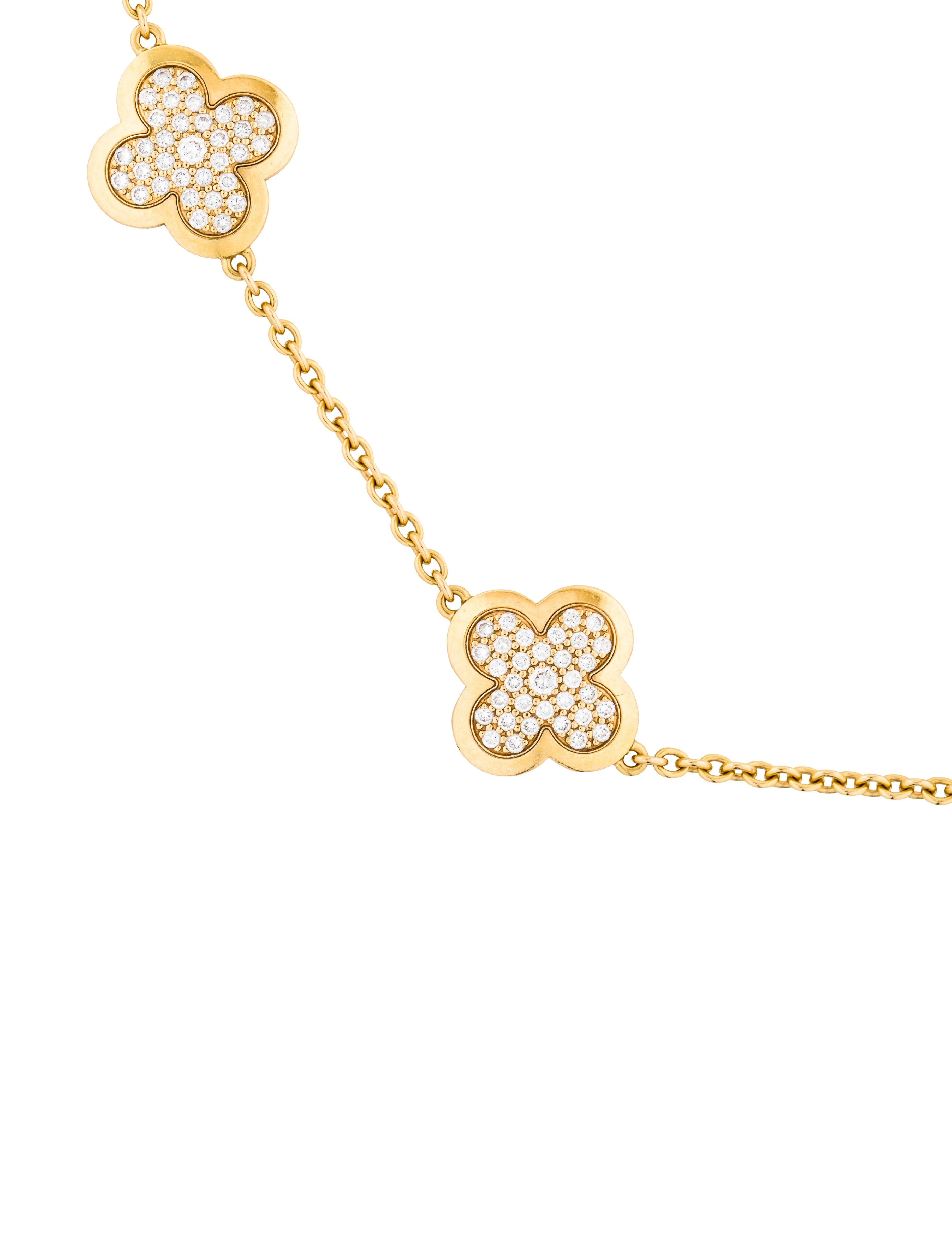 Van Cleef & Arpels Diamond Pure Alhambra Necklace ...
