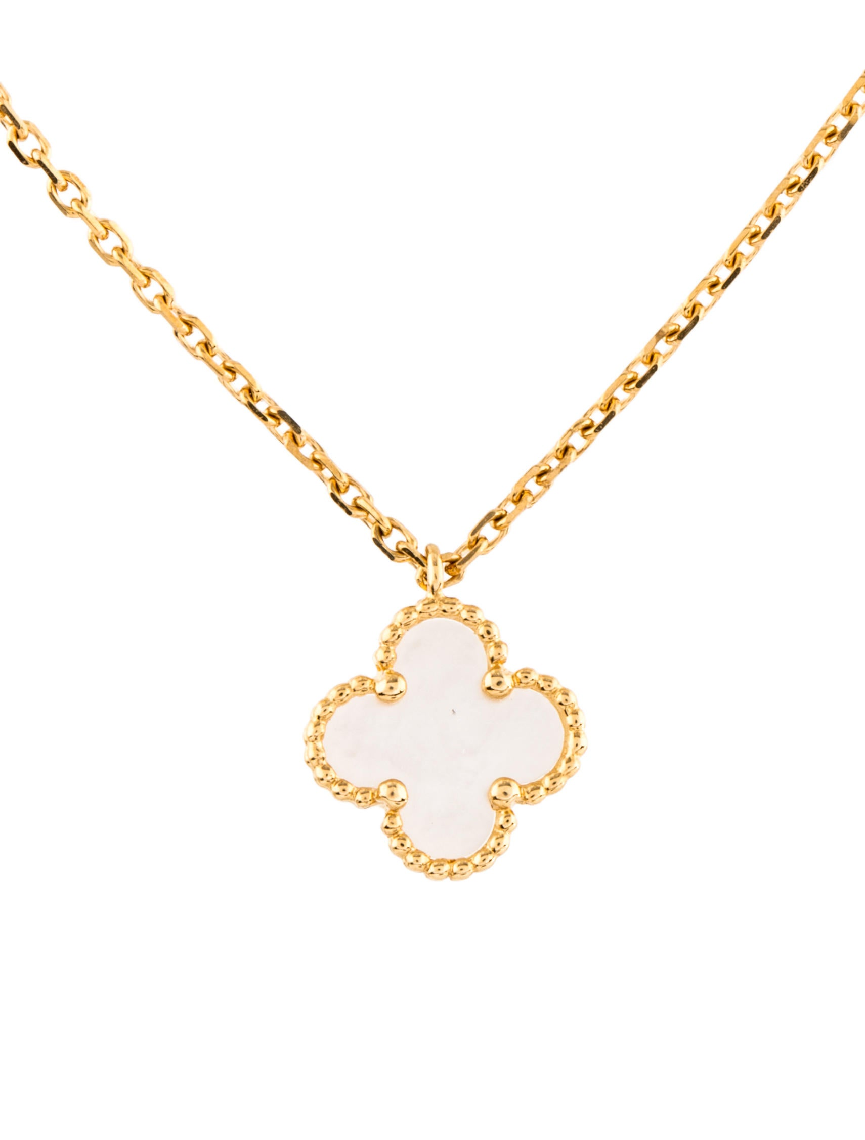 weight clover with one alhambra pendant pin total cleef arpels the chain diamonds sweet diamond gold vintage is van round yellow
