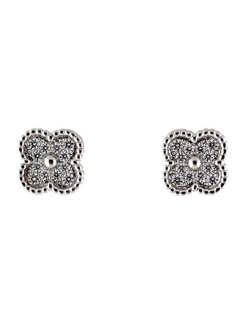 Van Cleef & Arpels Sweet Alhambra Stud Earrings wh