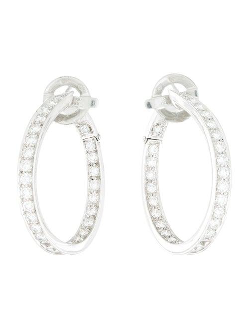 Van Cleef & Arpels Diamond Inside-Out Hoop Earring