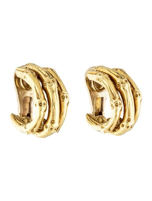 Van Cleef & Arpels Vintage Bamboo Clip-On Earrings