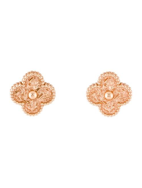 Van Cleef & Arpels Vintage Alhambra Earclips rose