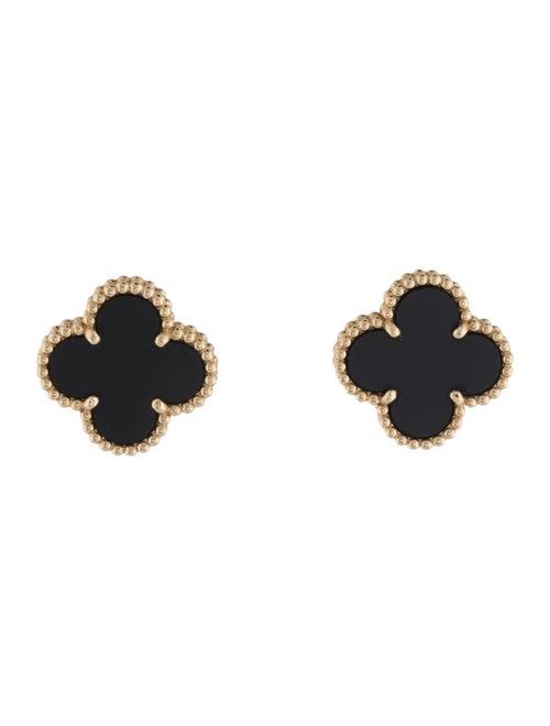 Van Cleef & Arpels Vintage Alhambra Earrings yello