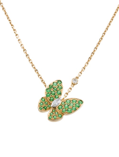 Van Cleef & Arpels Two Butterfly Pendant Necklace