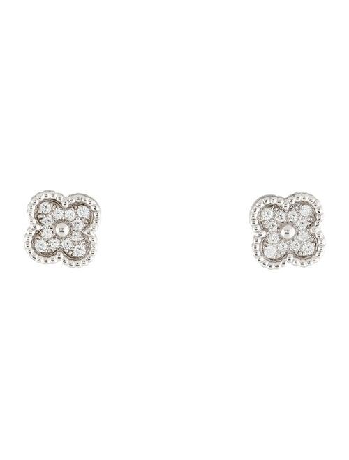 Van Cleef & Arpels Diamond Sweet Alhambra Stud Ear