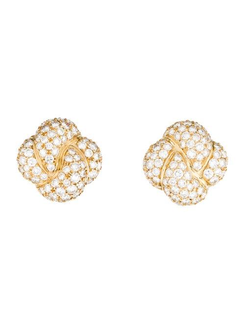 Van Cleef & Arpels Vintage Diamond Earclips Yellow