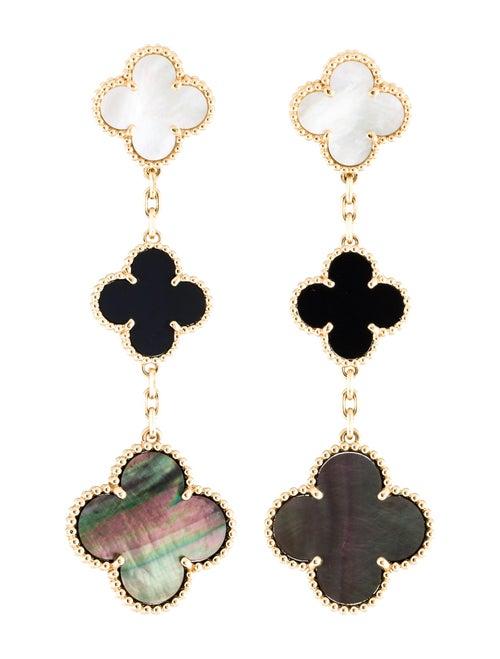 Van Cleef & Arpels Magic Alhambra Earrings Yellow