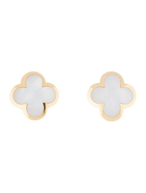 Van Cleef & Arpels Pure Alhambra Earrings Yellow