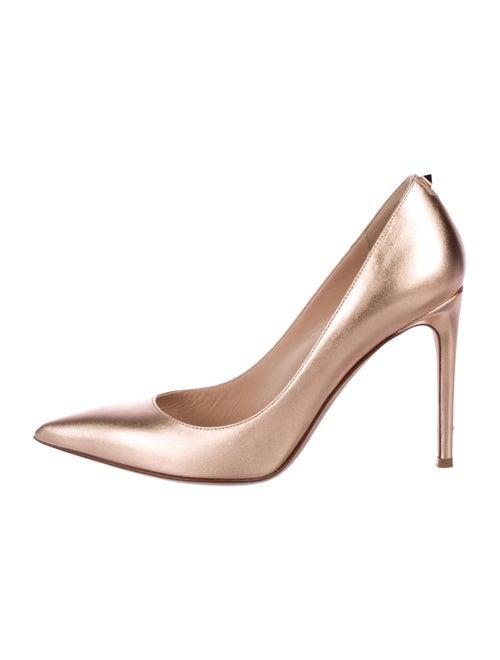 e6821bda2228f Valentino Metallic Pointed-Toe Pumps - Shoes - VAL101773 | The RealReal
