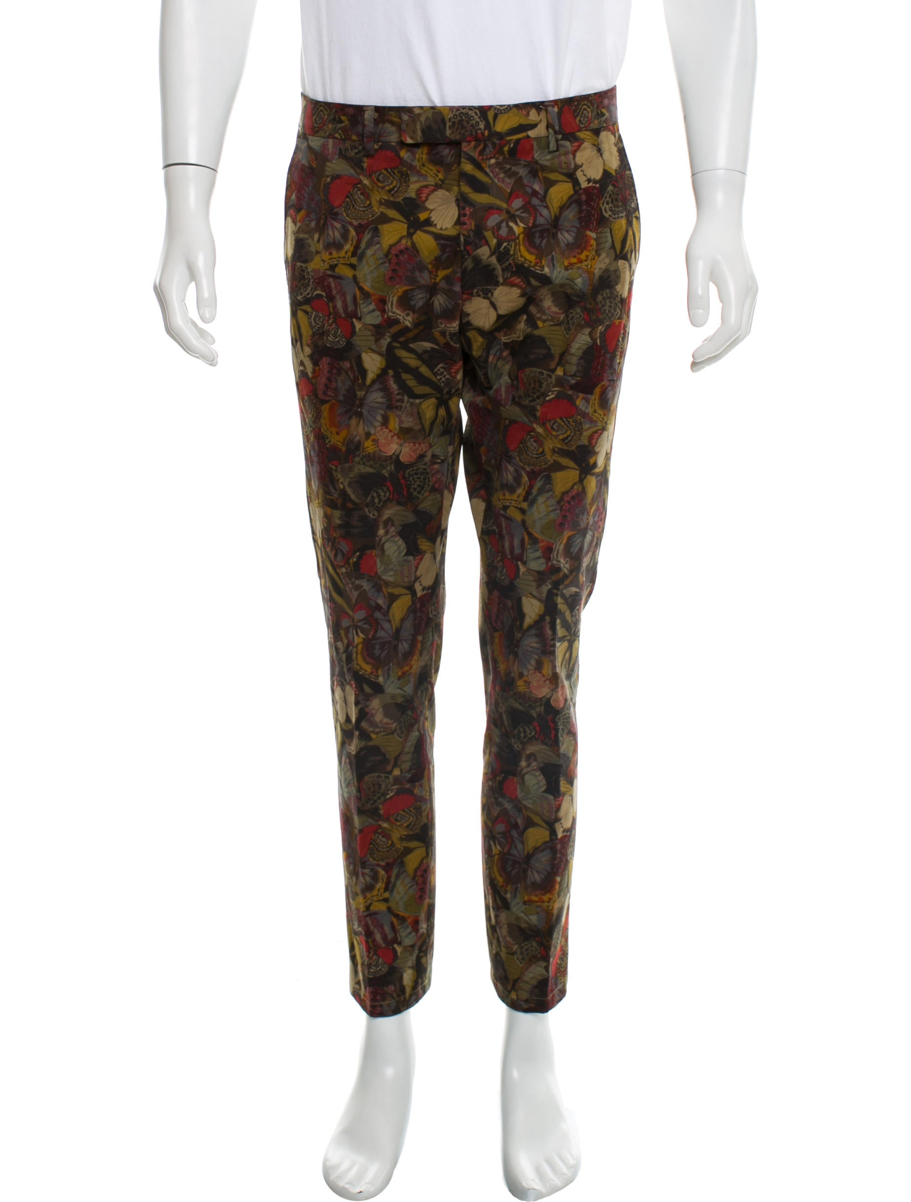 Butterfly Print Pants by Valentino