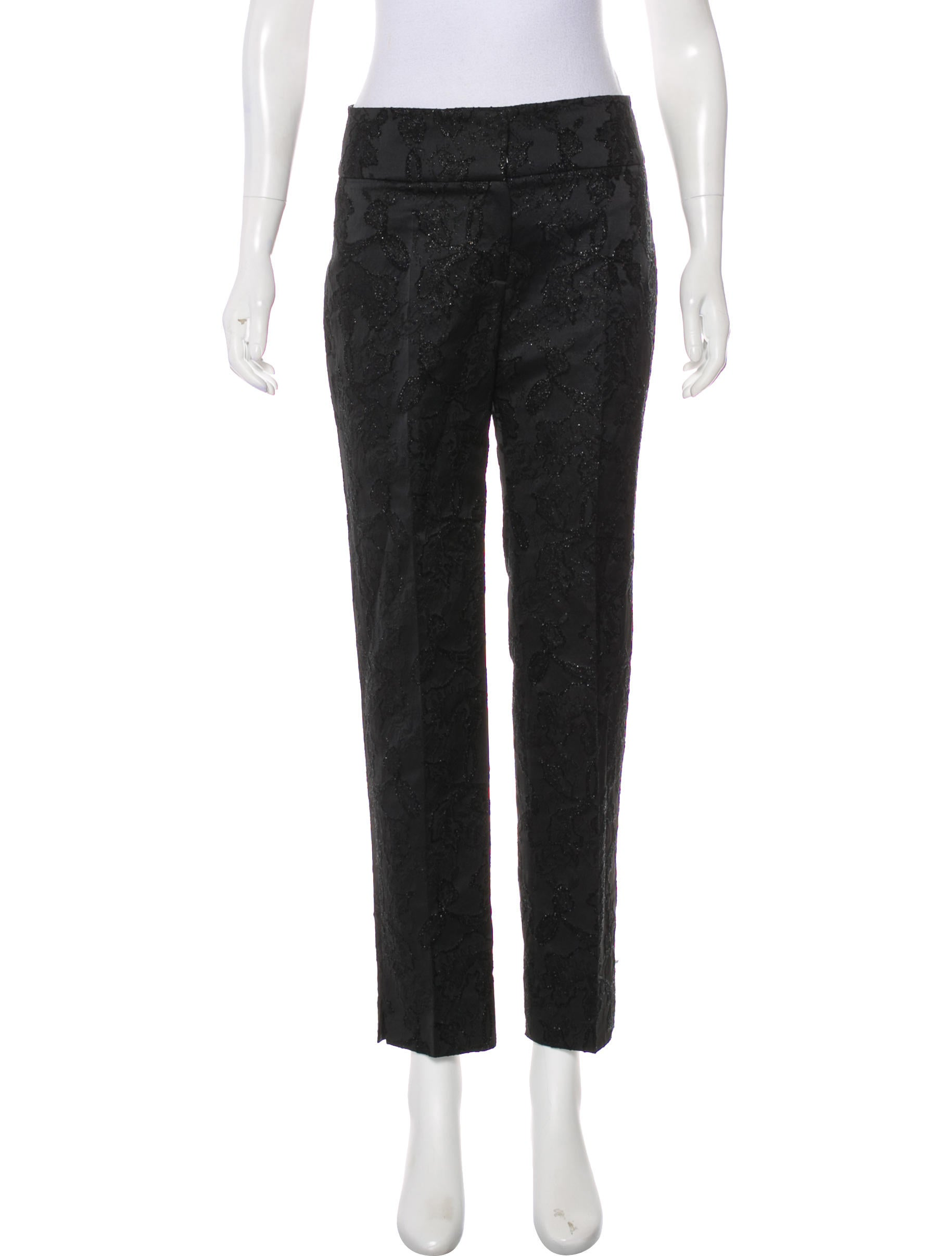 Embroidered Mid Rise Pants by Valentino