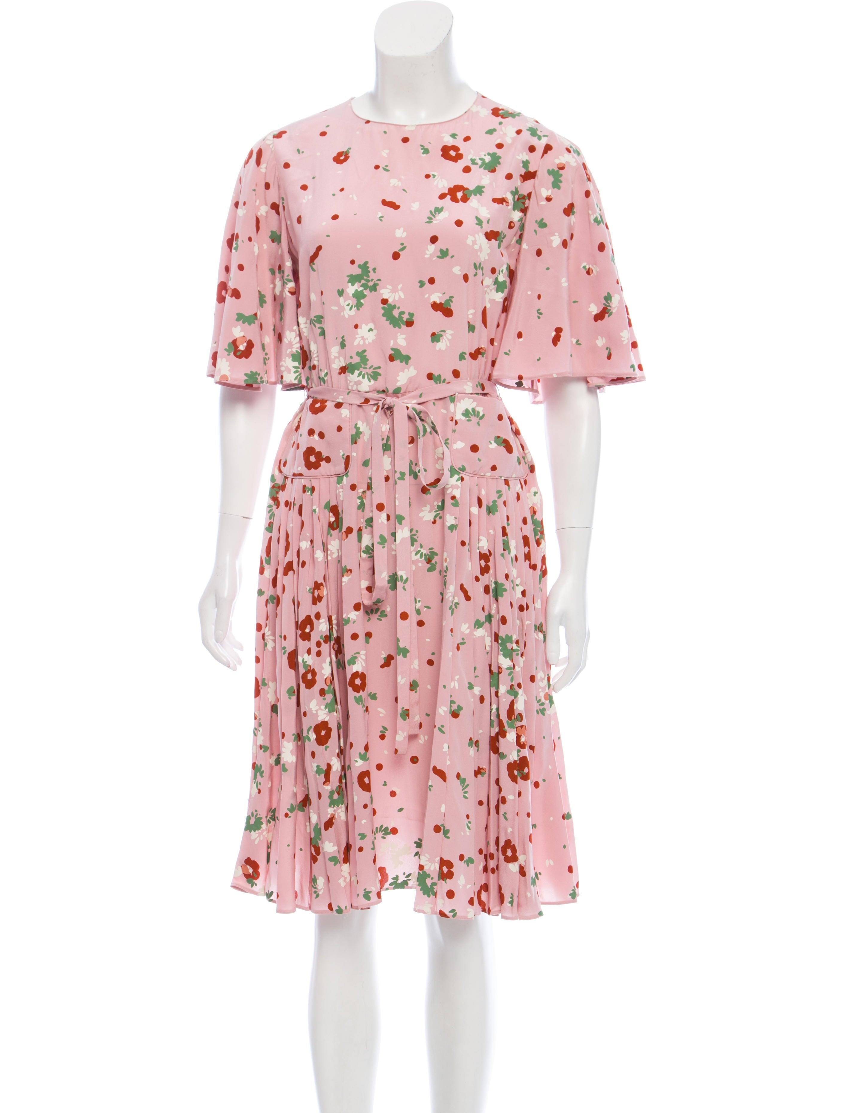 67c0f7cef94 Valentino Printed Silk Dress - Clothing - VAL108898