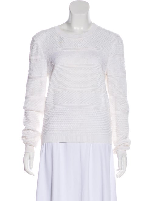 Valentino Embroidered Long Sleeve Sweater