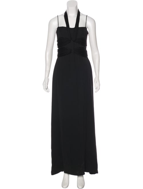 Valentino Sleeveless Maxi Gown Black