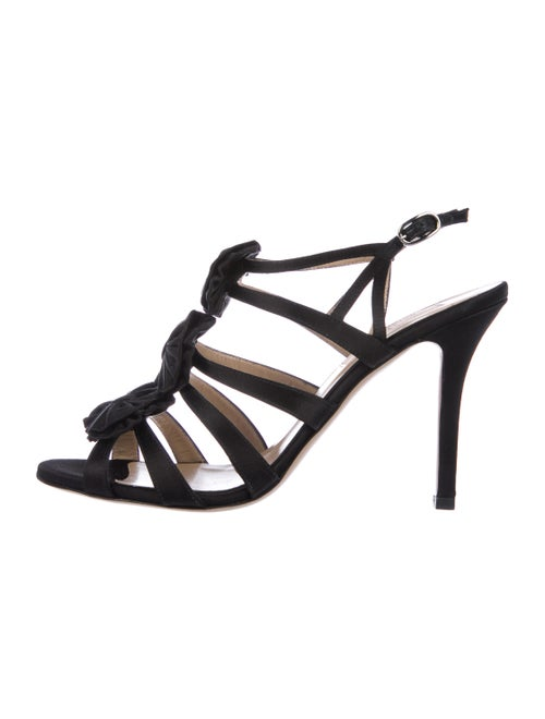 Valentino Satin Bow Sandals Black