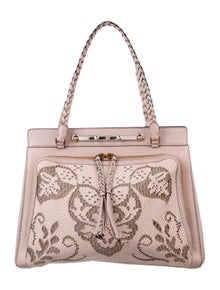 86c15f3264 Valentino. Demetra Leather Lace Bag