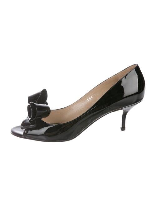 802b43f0de89 Valentino Bow Peep-Toe Pumps - Shoes - VAL119417