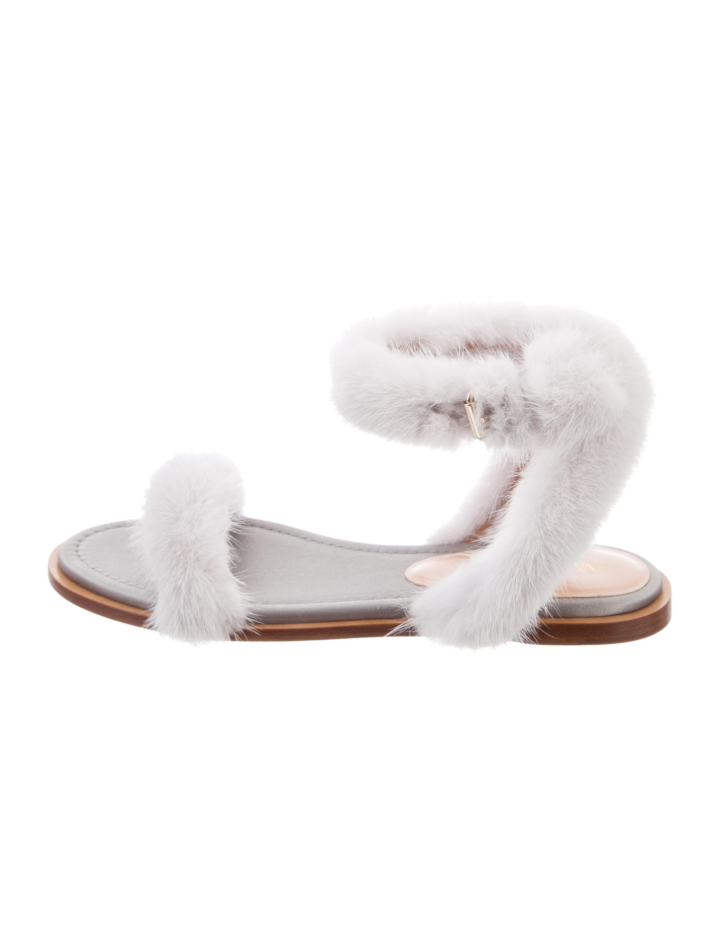 c2289aca5e0e Valentino 2017 Fur Ankle Strap Sandals w  Tags - Shoes - VAL120001 ...