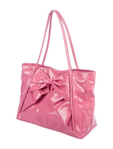 fa08e600731 Valentino Betty Bow Patent Leather Tote - Handbags - VAL121293 | The  RealReal