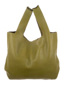 ba10fd817126 Ostrich-Leg Trimmed Leather Bag.  525.00 · Valentino