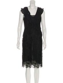 341ac23c7d0 Valentino. Lace Ruffle Dress