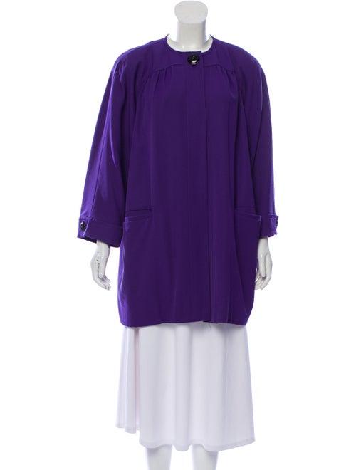 Valentino Vintage Wool Coat Purple
