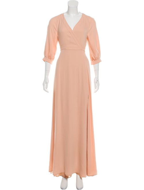 Valentino Silk Maxi Dress Pink
