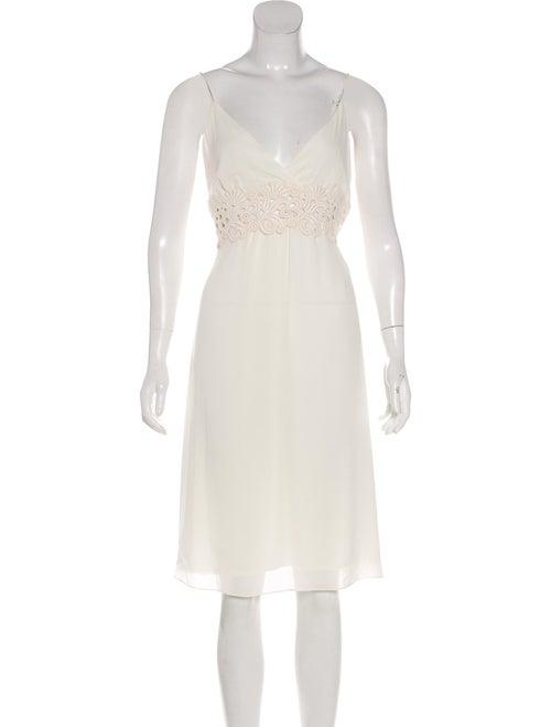 Valentino Sleeveless Midi Dress White